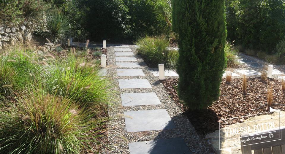 Vanessa cottin paysagiste concepteur varun jardin de gramin es la cadi re d 39 azur var 83 - Jardin de graminees ...